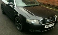 Audi a4 convertable 1.8t. 11 months mot. Runs and