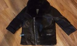 Baby riverisland black leather jacket only wore once