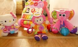 baby girl toys in good condition all work well, free