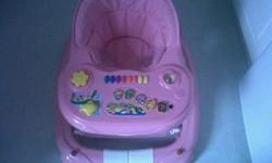 PINK BABY WALKER /BOUNCER FOR SALE THIS BABY WALKER CAN