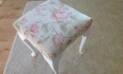 Beautiful French stool with queen Anne legs. Was