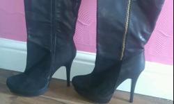 Beautiful Leather Size 6 Ladies Boots. Paid £68 A Year