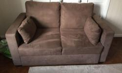 Brown Suede effect sofa bed. Barely been used. Only