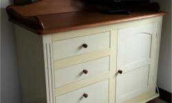 Vanilla cream/ mid oak colour ( chest of drawers and