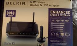 BELKIN N WIRELESS ROUTER & USB ADAPTER F5D8233-4