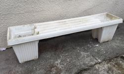 Garden bench with planters 15 inches deep 17inches