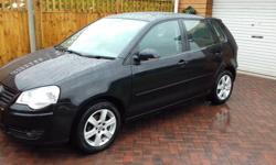 Black, VW Polo 1.2 Match 5 door, Only 64,100 miles from