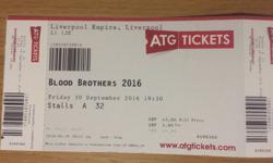 4 x tickets for sale to see Blood Brothers @ the