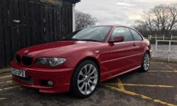 Bmw 320ci m sport imola red, full m sport black leather