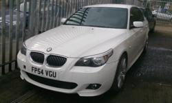 BMW 525D M SPORT WHITE 8 MONTHS MOT , BMW 18 ALLOYS
