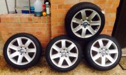 For wheels and four set of good tyres