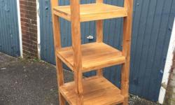 Open hardwood bookshelf. Beautiful piece of furniture