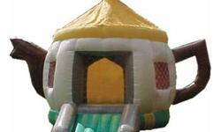 Small Bouncy castle Ideal for kids parties, Has a roof