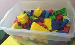 A big box full of large duplo blocks. Local pick up -