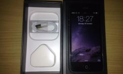 Here is my new immaculate Apple iphone 5 16GB in black.