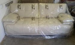 BRAND NEW SCS ENDURANCE INFINITY CREAM LEATHER 3 SEATER