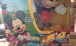 Micky and mini spin game £10 each lego helicopter