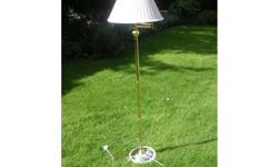 Floor standing standard lamp and shade - in very good