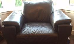 Brown Leather 3+2+1 Sofa from Reids Furniture. Suite is