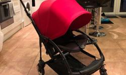 Beautiful Bugaboo Bee 3 Good condition Red extended sun
