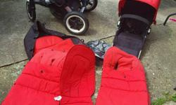 Bugaboo donkey duo v1.1 included: 2x seat unit,1