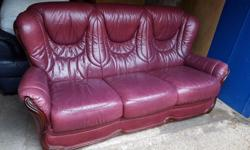 Used leather sofa for sale. Item has been previously