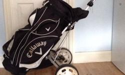 Callaway golf bag with trolly Comes with Wilson pro