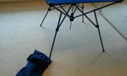 Camping table. Syurdy and fully collapsible. Used by 2
