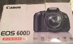 As above I have a brand new Canon EOS 600D EF-S 18-55
