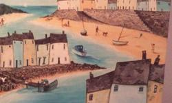 Very nice seaside scene stretched canvas Large 32inches
