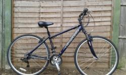 "UNISEX CARRERA CROSSFIRE 2 FOR SALE 18"" FRAME 24 GEARS"