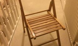 Pine folding chair, ideal office or bedroom Collect