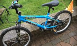 Child's BMX blue bike hardly used. Good condition. Will