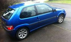 Saxo VTR in Blue - Low Mileage for Age - 9 months MOT