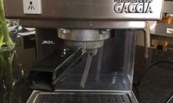 WCubika Gaggia coffee machine with milk frothier on the