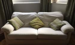 Comfy, cream, well-made, quality fabric 2 & 3 seater