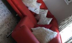 Immaculate corner sofa , swing chair , foot stool Smoke