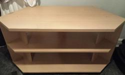 Tv corner unit for sale, slight damage (see pics). Can