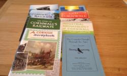 Eight books of Cornwall various subjects railways