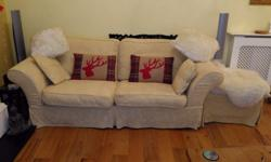 Two matching sofas, ex DFS - cost £2000, in very good