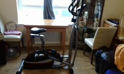 Cross trainer and bike with electronic display and