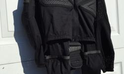 Dainese two piece armoured under suit with Dainese back
