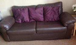 Lovely chocolate brown sofa 6' long only selling as I'm