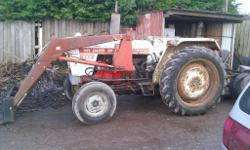 david brown 995 with loader, will come with front
