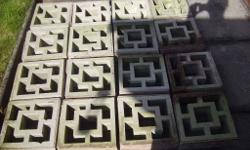 16 decorative concrete blocks. Similar to ones at B & Q