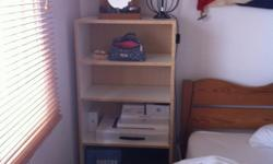 Deep Bookcase/shelves. W58, H124, D32.5 £30 From the