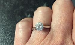 18 ct white gold 1 ct diamond solitaire engagement