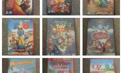 9 DVDs mostly Disney amongst others Selling as bundle