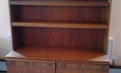 Lounge/Dining room display unit. Two sliding glass top,