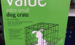 Brand new still in box never used dog crate for small